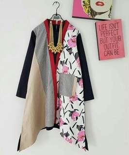 Batik kimono flower