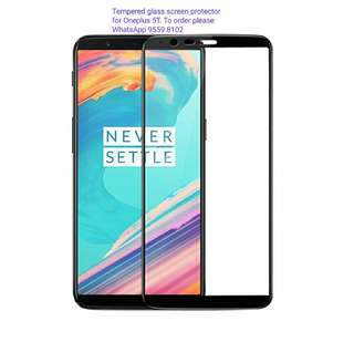 Tempered glass screen protectors for Oneplus 5T