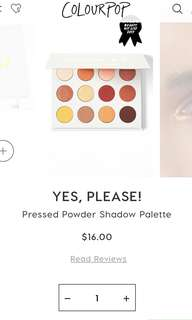 [PO] Colourpop Yes Please palette