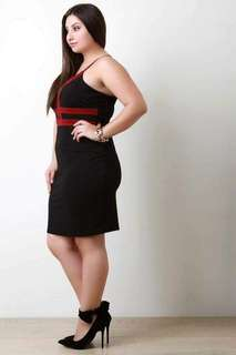 #039 Color Block plus size dress