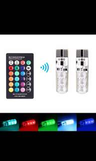 Remote Control T10 Multi Color Change LED Light