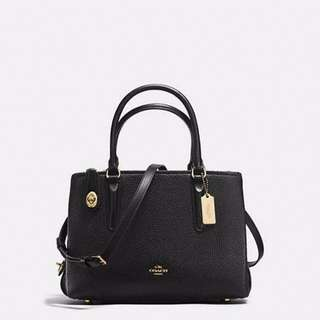 COACH Brooklyn Carryall Pebble Leather