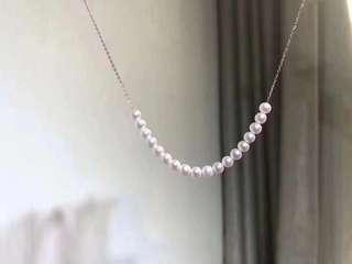 纯银珍珠链