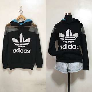 [Preloved] Adidas Mesh Hoodie Jacket (authenticity not guaranteed)
