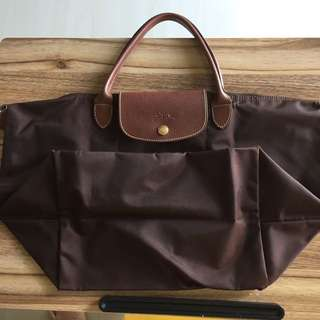 Preloved Long Champ Brown Medium Bag