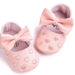 Lovely and Charming fashion design love print baby shoe, Pink
