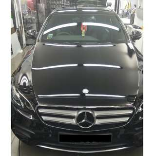 GLASS COATING CARS @ CAR SERVICE