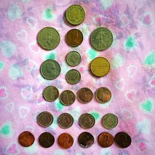 Coins- Pound N Francs