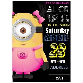Minion Theme Birthday Invitation eCard