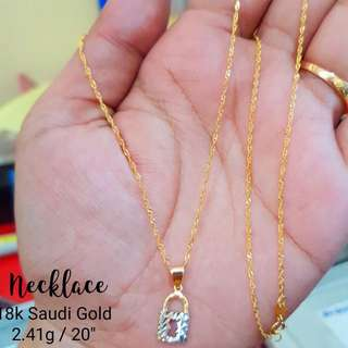 AUTHENTIC/PAWNABLE 18K SAUDI GOLD NECKLACE