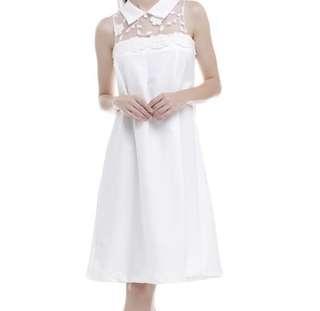 Leaf white Dress