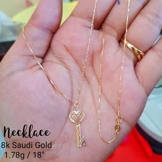 SAUDI GOLD 18KARAT NECKLACE