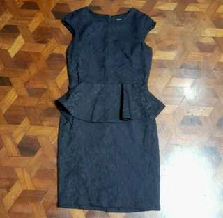 Zara peplum dress (M) SALE