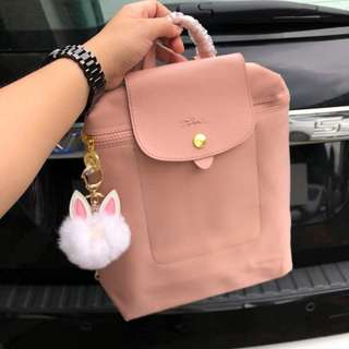 LONGCHAMP LE PLIAGE NEO BACKPACK in Salmon Pink