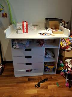 Diaper changing table/drawers