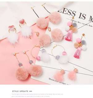 Korean Pinky Cute Earrings ( buy 3 only for RM30‼️ ) grab it now‼️