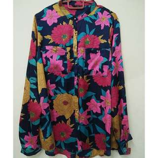FLOWER BLOUSE SIZE L-XL