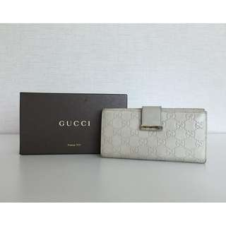 GUCCI 212089 GG LEATHER LONG WALLET