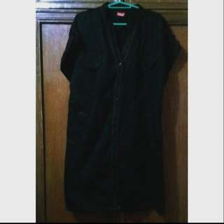 Plus Size Black Denim Dress