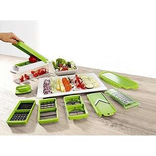 Nicer Dicer Slicer 11 in 1 Alat Pemotong Buah Dan Sayur Multifungsi ada 11 Mata Pisau Harga Murah
