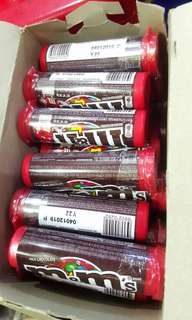 M&Ms Tube 4 for 120.00