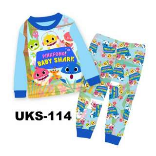 PinkFong Baby Shark Long Sleeve Pyjamas For (2 Yrs To 7 Yrs)