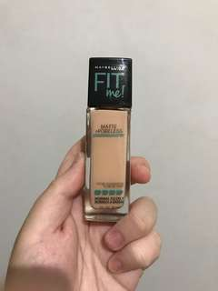 Maybelline fit me foundation matte+poreless