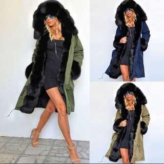 Fur coat in BLUE