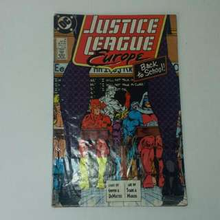 Vintage DC Comics, Justice League Europe Sept 1989
