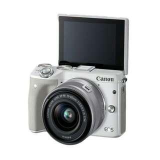 Canon Eos m3 kit bisa di cicil loh gan
