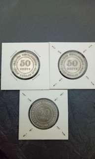 malaysia old coin 老王银币3枚