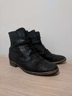 Zara suede oxford lace up boots