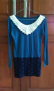 Mini Dress Blue Ice