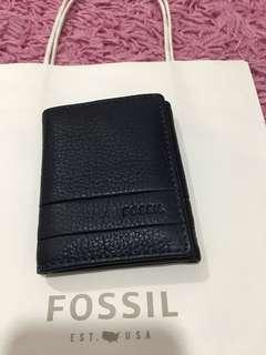 Fossil lufkin deep indigo trifold wallet