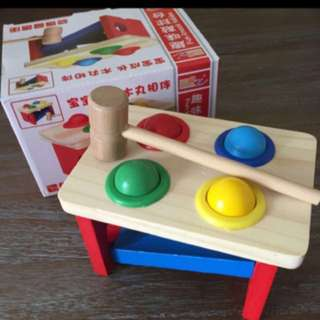 Montessori Wooden Knock Ball Toy