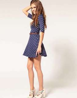 Polka dots Dress with belt SALE 😍
