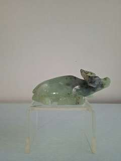 Old Stone Jade Carving Water 🐃 height 6cm length 14cm perfect condition