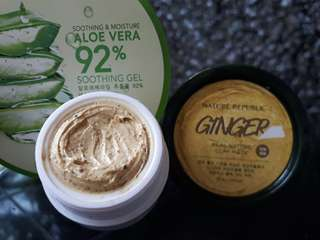 Masker nature republic clay mask ginger&lemon share in jar