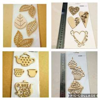 New craft wooden wood flourishes decorations