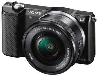 Sony Alpha A5000 with 16-50mm Cicil Low Dp