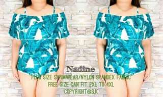 Nadine swimsuit Limited stock Freesize can fit 2XL-5XL