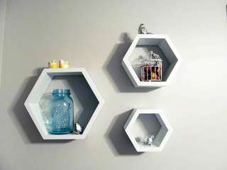 Rak Dinding Hexagonal