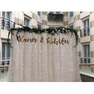 BUNDLE RENTAL PROMO Curtains+FairyLights+Stand =$9