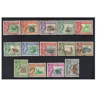 NORTH BORNEO QEII 1961 DEFINS USED BL600