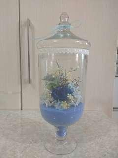 玻璃花瓶連花 discount