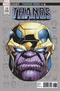 New Thanos #13 Legacy Headshot Variant. First Cosmic GhostRider appearance. NM