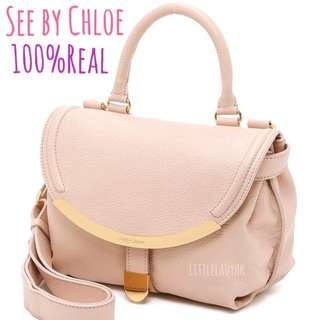 See by Chloe💋Classic Lizzie Small Satchel in Nude Pink crossbody bag手挽手拎斜背斜咩三用袋