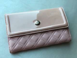 100%new guess pink long wallet 粉紅guess長銀包