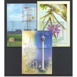 MALAYSIA SELECTION MS 3 pcs mnh BL601