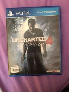 Selling ps4 uncharted4 for $25 or trade with other ps4 game